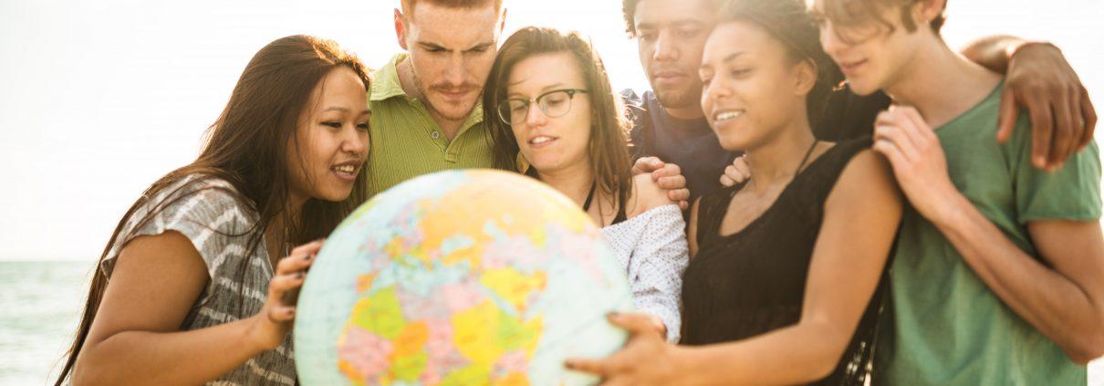 Jugendliche Globus
