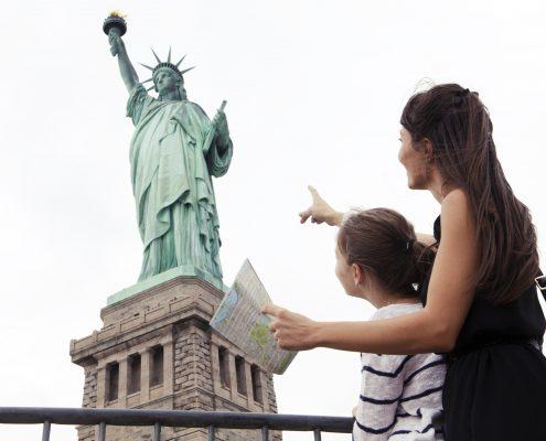Mutter und Tochter in New York
