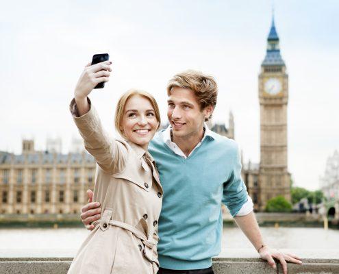 Paar in London